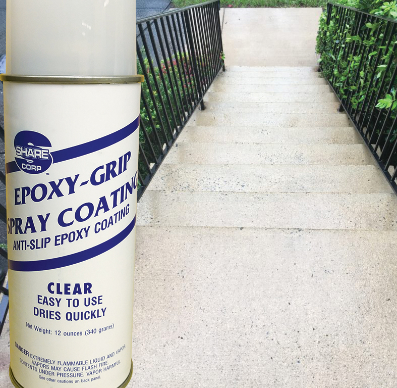 Epoxy-Grip Spray Coating - Clear | Share Corp